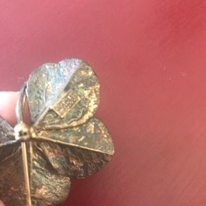 Vintage Jewelry - Flora Danica vintage sterling four leaf clover pin